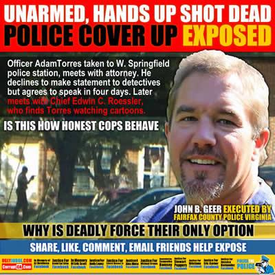 john b geer executed by fairfax police