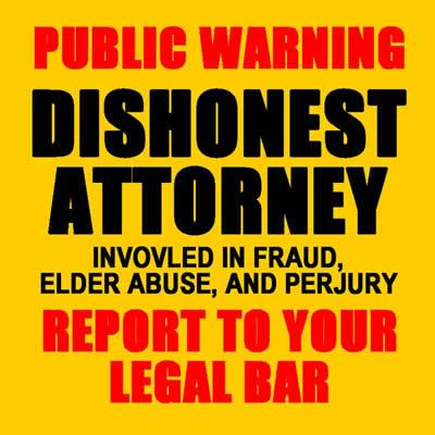christopher Overgaard lawyer glendale california dishonest attorney fraud elder abuse against gertrude gettinger