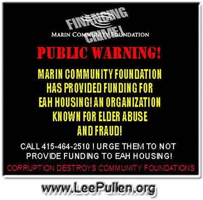 marin community foundation public warning lee pullen eah housing
