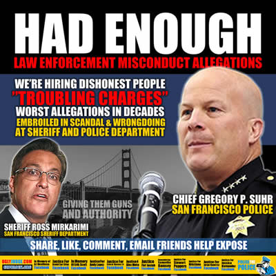 san francisco california sheriff and police departments major scandals and fraud