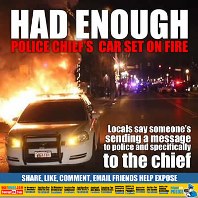 had enough beverly hills missouri police chiefs car set on fire