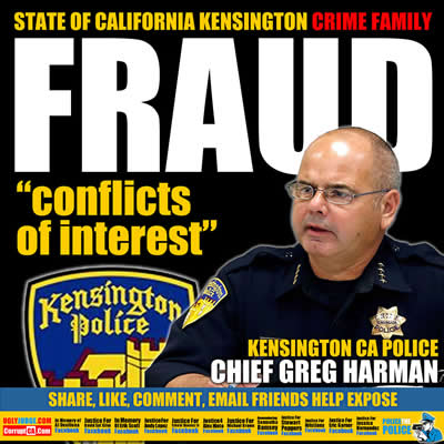kensington california police chief greg harman has conflicts of interest