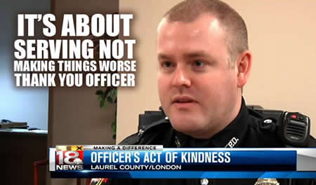 Officer Justin Roby london kentucky police officer does the right thing