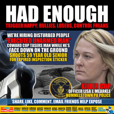 Harrisburg pa hummelstown police officer lisa j mearkle executes david kassick for expired inspection sticker