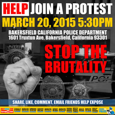 bakersfield california march against brutality march 20 2015
