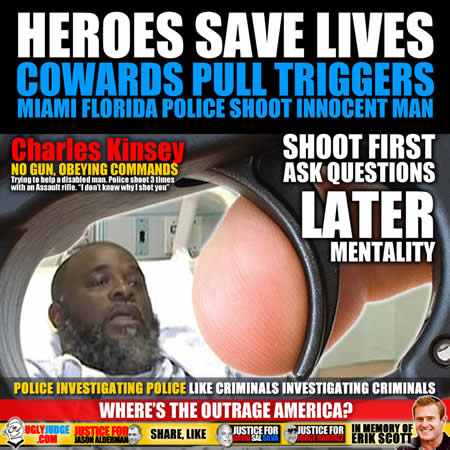 miami florida police officer shoots unarmed charles kinsey with assault rifle