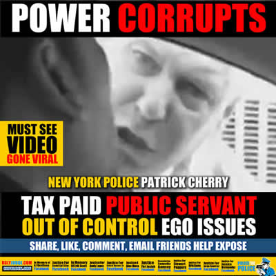 new york police detective patrick cherry out of control tax paid public servant