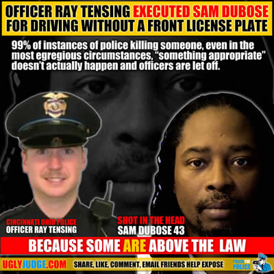 cincinnati ohio killer cop ray tensing shoots sam dubose in the head