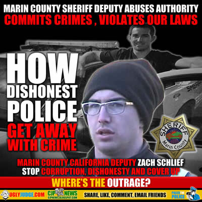 marin county california sheriff deputy zack schlief abuses authority leader of biker gang