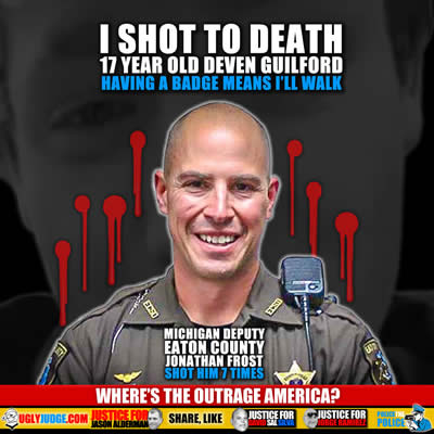 Officer Jonathan Frost is a murderer