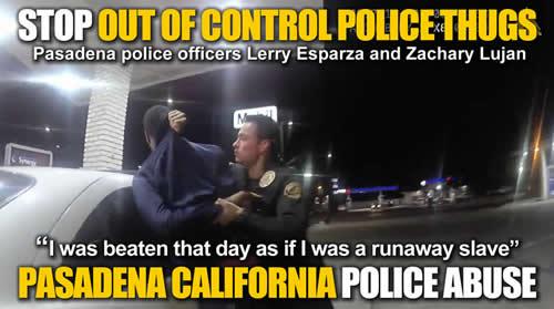 Pasadena California police officers Lerry Esparza and Zachary Lujan