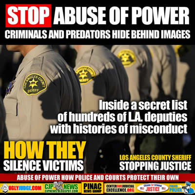 How Dishonest Los Angeles County Sheriff Deputies Hide behind an Image