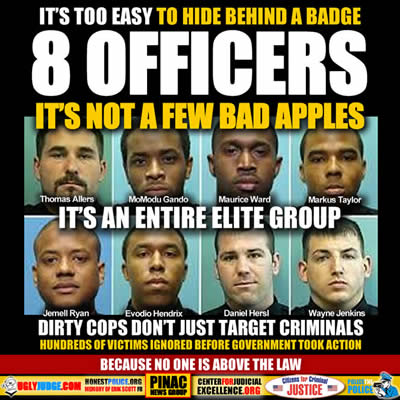 It's Too Easy To Hide Behind a Badge 8 Officers found Guilty
