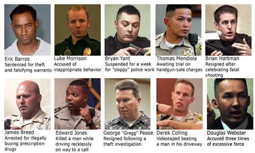 Las Vegas Nevada most corrupt and dishonest cops are poster boys for the scum Las Vegas Police hire