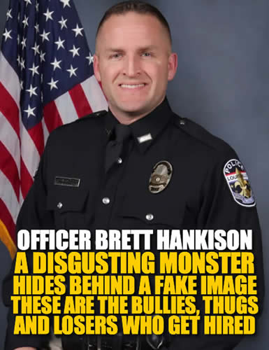 louisville kentucky officer brett hankison hides evil behind a fake image and clown suit.p