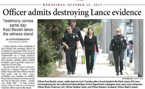 santa barbara california police department corruption scandal