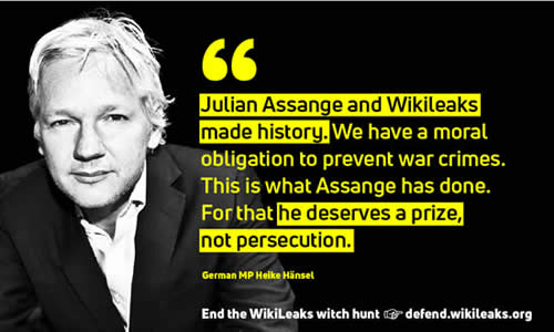 julian assange is a hero whistle blower not a criminal