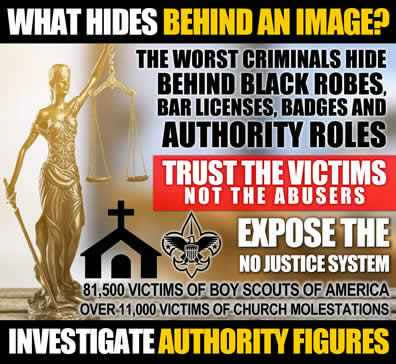 Expose the no justice system the worst abusers hide behind robes badges bar licenses and authority roles