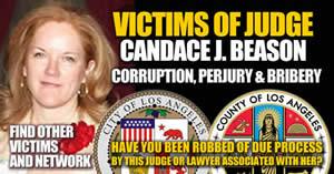 Los Angeles Superior Court California victims of judge candace j beason