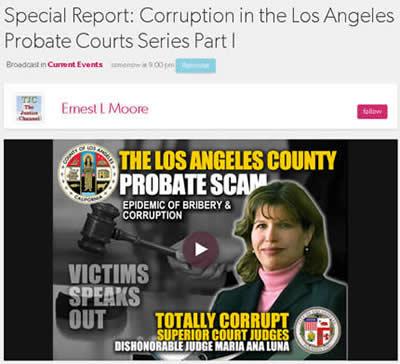 2020 03 27 Ernest L Moore Talk show Los Angeles Superior Court Corruption
